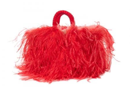 L coffa bag in Shocking Coral