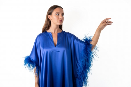 Kaftan in Electric Blue