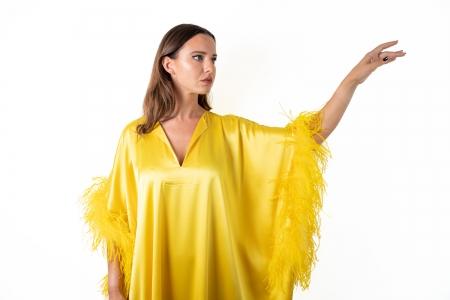 Kaftan in Gold Yellow