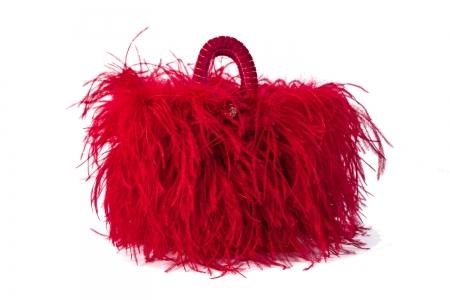 L coffa bag in Rosso Ciliegia