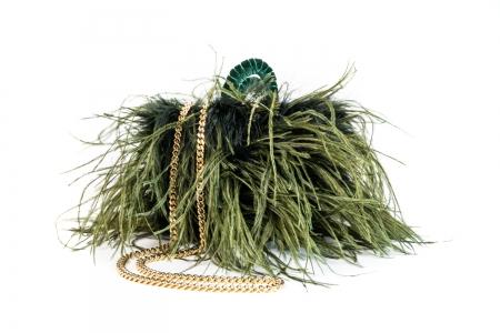 S coffa bag in Verde Bosco