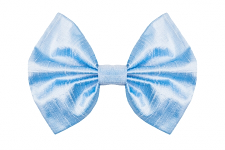 Bow in Dream Blue Silk