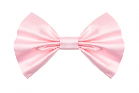Bow in Rose Pink Silk