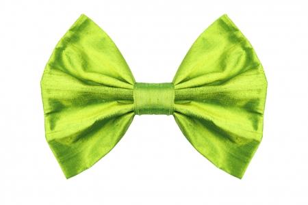 Bow in grass Green Silk