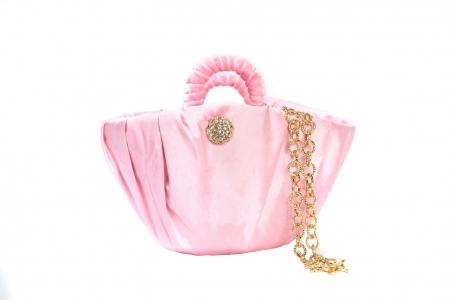 Oyster bag in Rose Pink