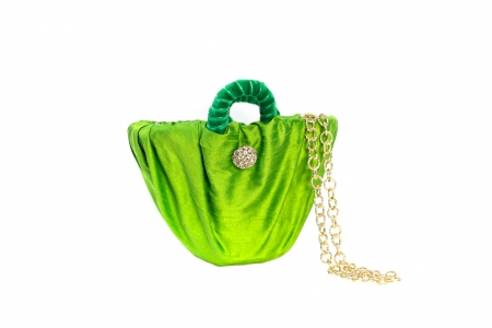 Oyster bag in Grass Green