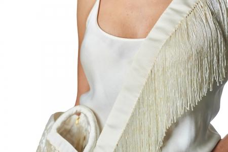 Shoulder strap in Milk White