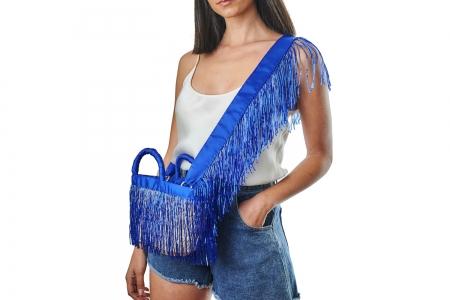 LA NUDA in Electric Blue with shoulder strap