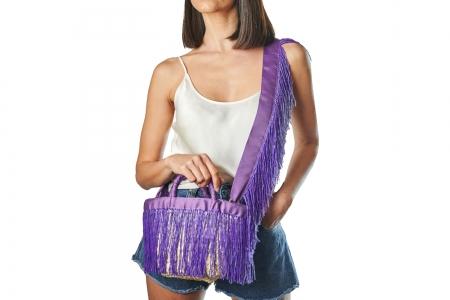 LA NUDA in Orchid Purple with shoulder strap